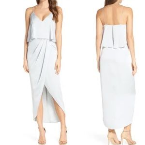 SHONA JOY Luxe Frill Tulip Hem Maxi Dress NWOT